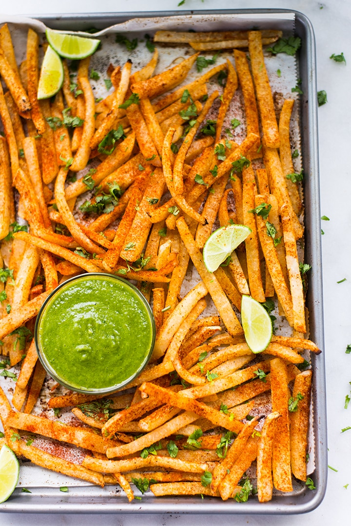 How To Make Low-Carb Baked Jicama Fries | Healthy, low-carb, and yummy jicama fries recipe + tips for how to prep jicama to make fries | A Sweet Pea Chef