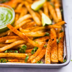 Easy Baked Jicama Fries | Low-Carb, Keto, GF + Vegan!