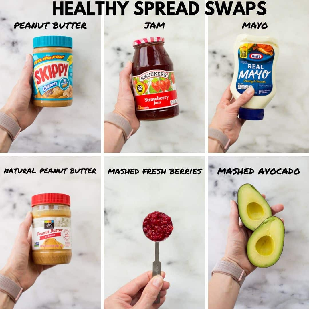 Healthy spread options.