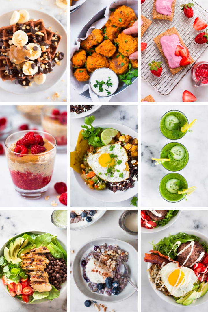 Sample Recipe Images from Clean Eating Cookbook