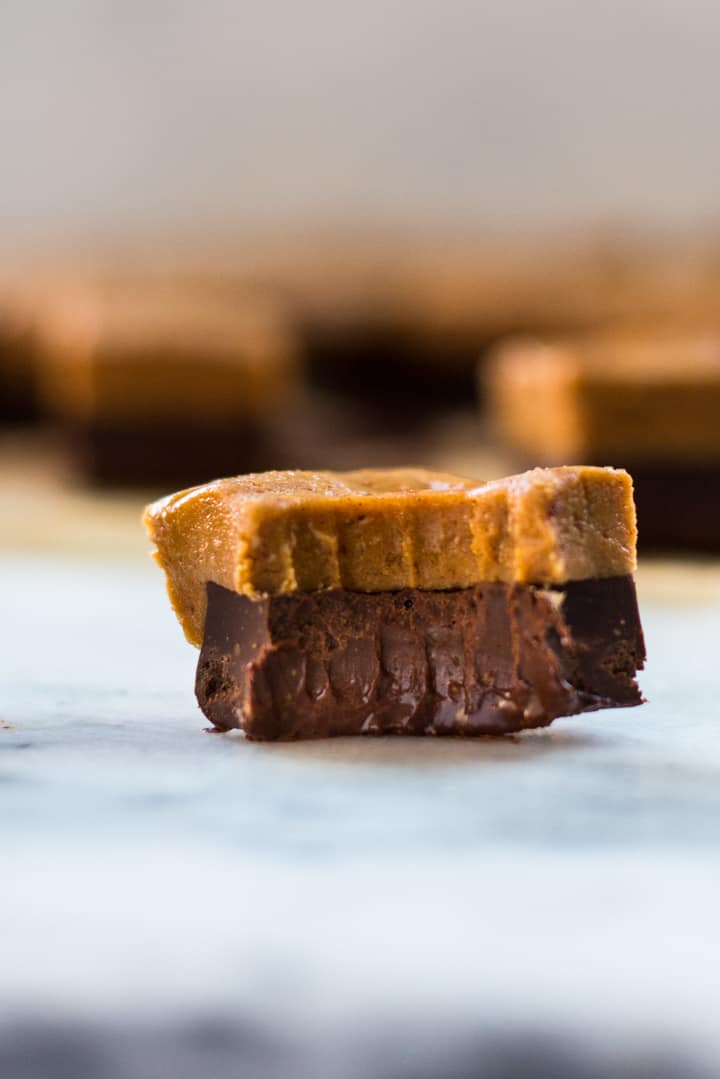 This Easy Chocolate Peanut Butter Fudge requires just 6 ingredients and is so creamy and decadent, you'd never guess it's clean-eating, keto, vegan, and free of refined sugar!