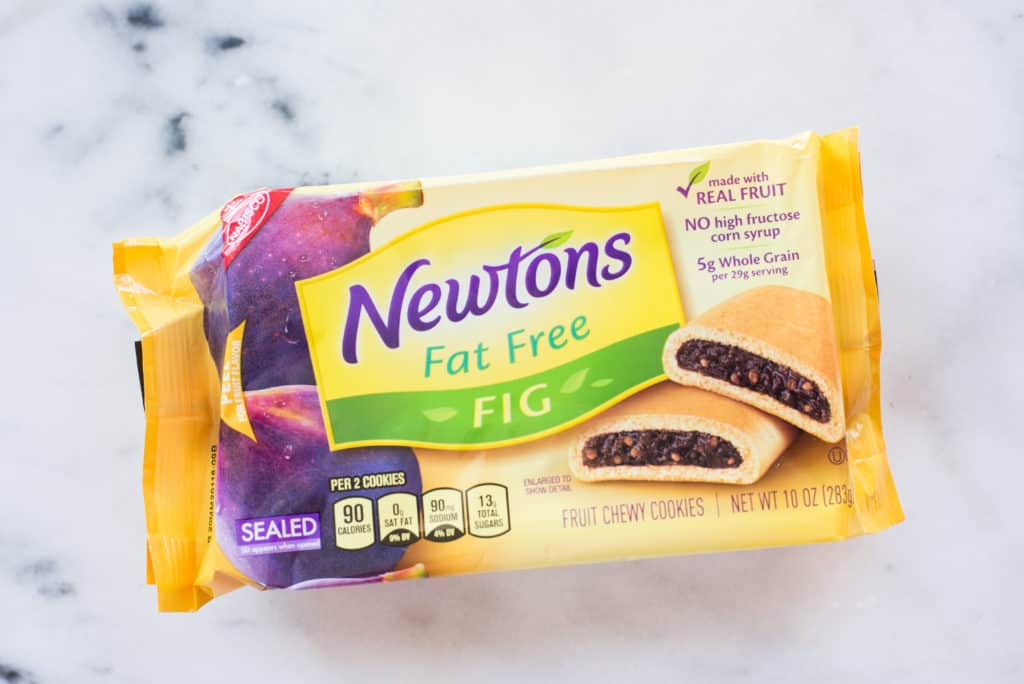 Overhead view of fat-free Fig Newtons that contain refined carbs as discussed in 10 Foods That Cause Inflammation.