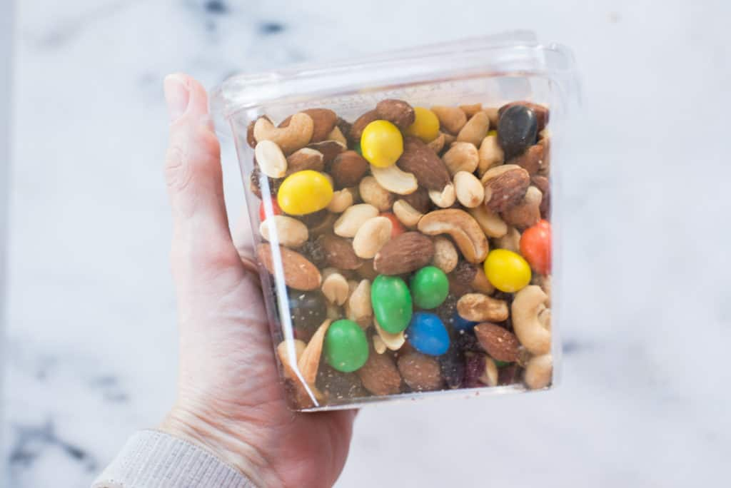 Side view of a package of trail mix with added sugars in 10 Foods That Fight Inflammation.