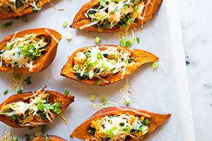The Best (Healthy) Sweet Potato Skins