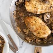 Healthy Chicken Marsala | With Mushrooms & Marsala Wine
